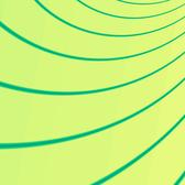 a pattern of curved green lines
