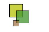 tranlucent overlapping square logo idea