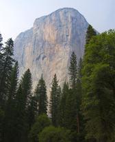 Spectacular 1000 metre vertical rock outcrop in the Yosemite valley, Yosemite National Park, California, USA