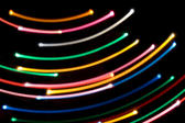 glowing lines forming concentric curved arcs