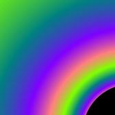 background image featuring half a rainbow style colour arc