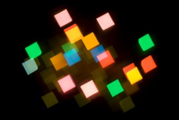diamond shaped multicoloured camera lens bokeh effect