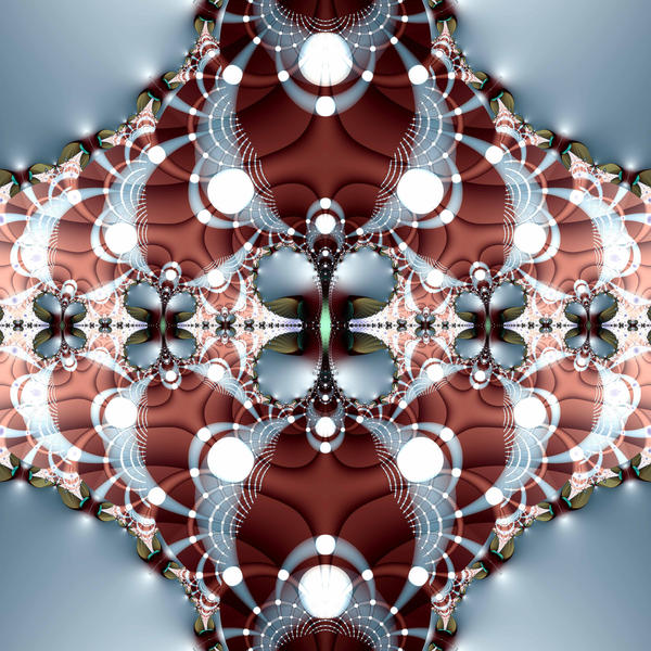 a complex, physcodelic and perhaps ugly fractal pattten