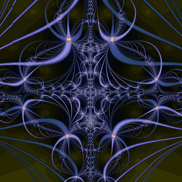 a dark gothic looking fractal pattern with organic undertones