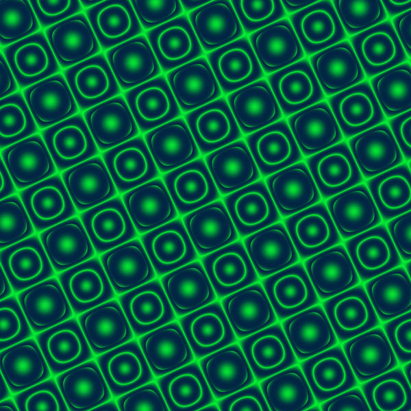 A computer generated background batter of interecting squares and circles