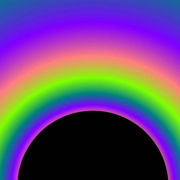 a computer generated pattern of rainbow arches