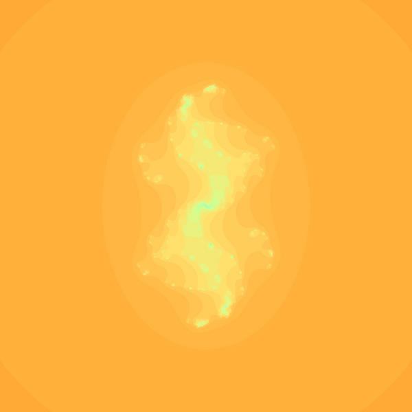 unusual computer generated background with and orange and yellow colour palette