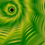 green and yellow natural fractal shape