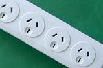 a line of 4 Australian 230 volt mains power sockets